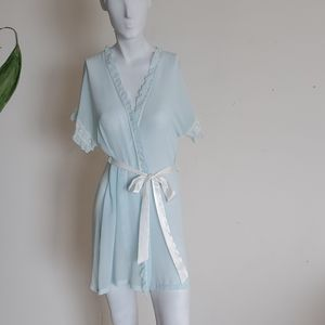 Linea Donatella See-through Baby Blue Robe